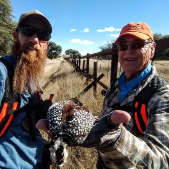 Arizona Quail Hunter Matt Russell & Dan Priest in late December wearing Q5 Centerfires